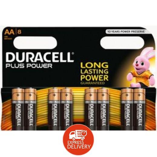 دوراسيل – بطارية ألكالين جافة AA عبوة 8 حبة (1.5 فولت)