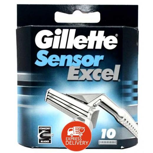 جيليت – شفرات حلاقة Sensor  المزدوجة – 10 حبات