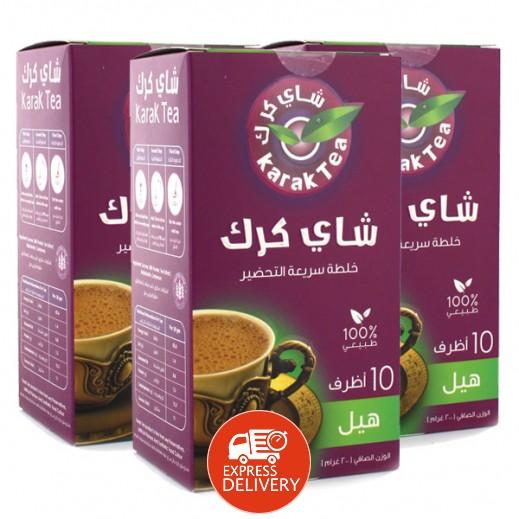 كرك - شاي بنكهة الهيل سريع التحضير 10 أكياس × 20 جم (3 حبة) - أسعار الجملة