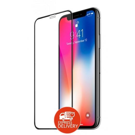 هوكو - حماية شاشة لآي فون X – اسود