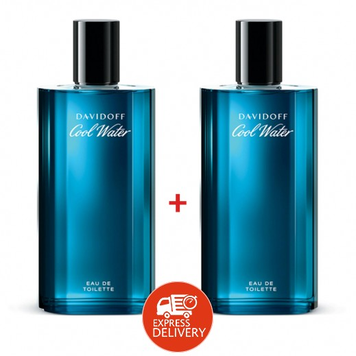 Set Of 2 Davidoff Cool Water For Him EDT 125 ml