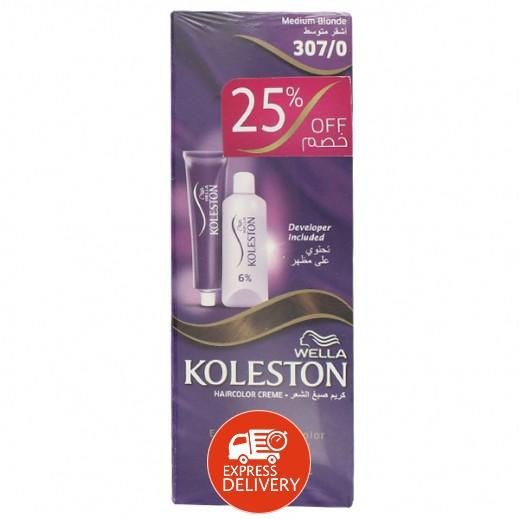 كوليستون – كريم صبغ الشعر لون أشقر متوسط 307/0 (2 حبة)
