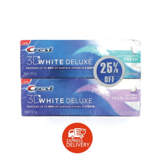 كرست – معجون  مُبيض للأسنان 3D White Deluxe Toothpaste