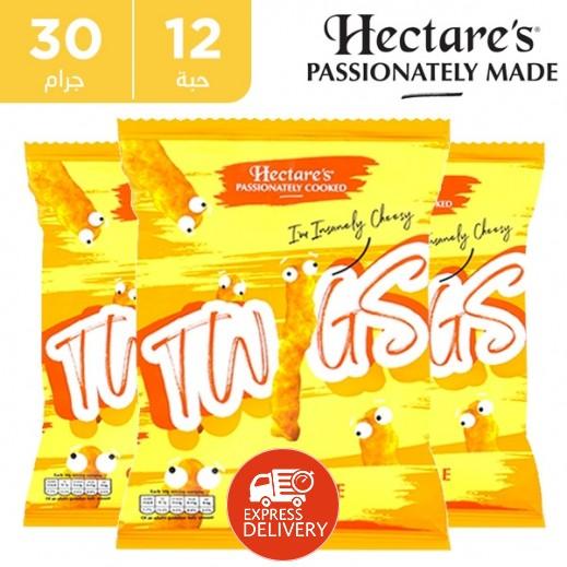 هيكترز - سناك الذرة تويجز خالية من الغلوتين بطعم الجبنة 12 × 30 جم