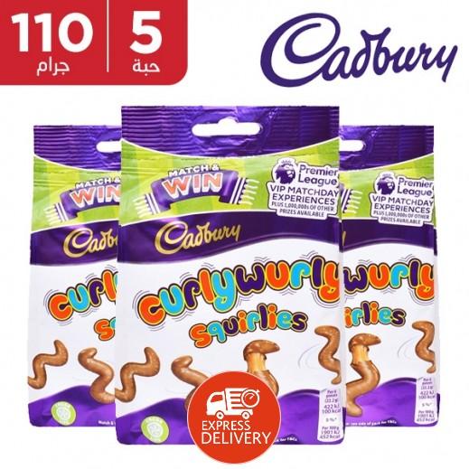 كادبوري - شوكولاتة كيرلي بالكراميل 5 × 110 جم