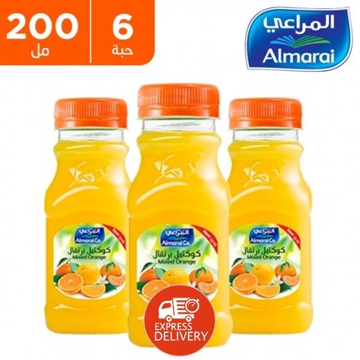 المراعي - عصير كوكتيل برتقال (زجاجة PET) عبوة 6 × 200 مل
