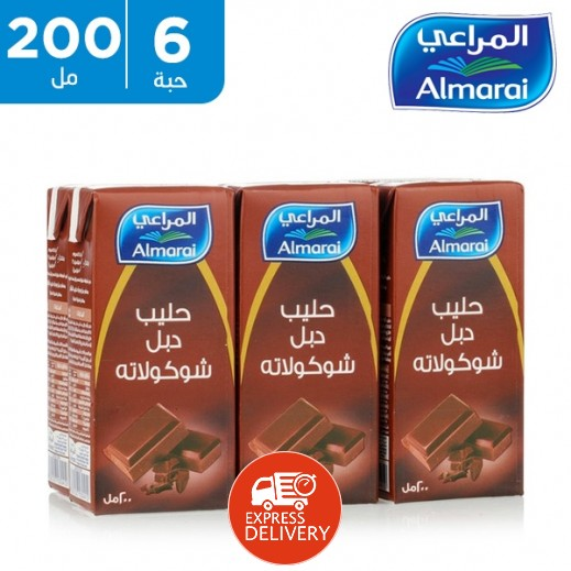 المراعي – حليب طازج دبل شوكولاتة 200 مل (5 +1 مجاناً)