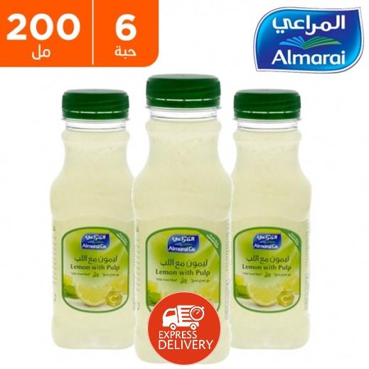 المراعي - عصير ليمون مع اللب 6 × 200 مل