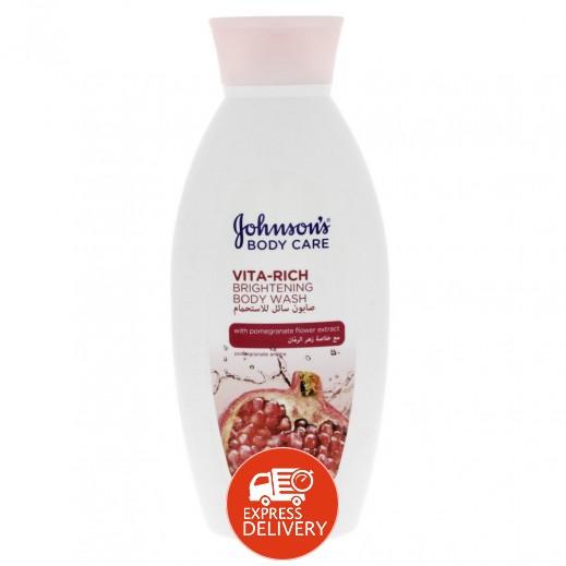 جونسون – صابون سائل للأستحمام  ماء الورد 400 مل