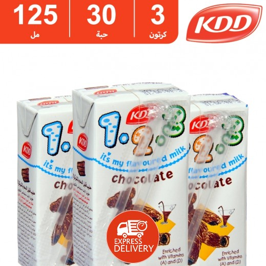 كى دى دى – حليب بنكهة الشوكولاتة 125 مل ( 3 كرتون × 30 حبة ) -  أسعار الجملة