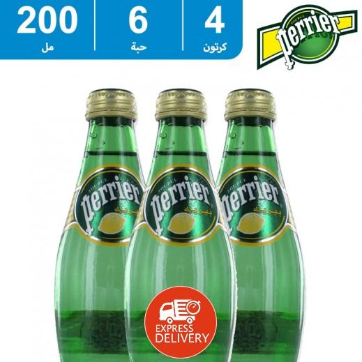 بيريه – مياه معدنية طبيعية بطعم الليمون 200 مل (4 × 6) - أسعار الجملة