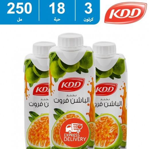 كى دى دى - عصير الباشن فروت 250 مل (3 كرتون × 18 حبة ) - أسعار الجملة
