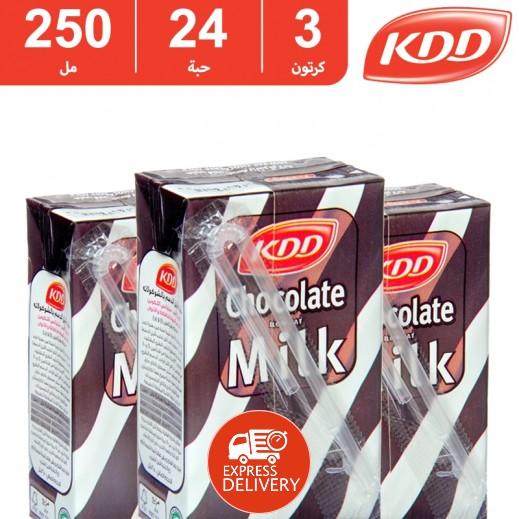 كى دى دى – حليب بنكهة الشوكولاتة 250 مل (3 كرتون × 24 حبة) -  أسعار الجملة