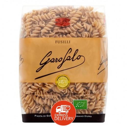 غاروفالو - معكرونة فوسيلي عضوية بالقمح الكامل 500 جم