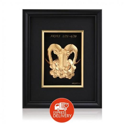 كيو بيست – رمز برج الحمل ذهبي عيار 24 ثلاثي الأبعاد