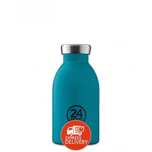 24 بوتلز - زجاجه مشروبات كليما الحرارية - أزرق بحري 330 مل