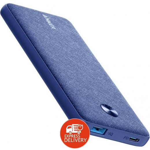 انكر - بطارية إحتياطية Powercore بسعة 10000 مل/ أمبير - أزرق قماشي