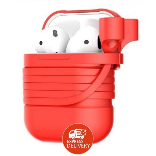 باسيوس - غطاء حماية لسماعات AirPods – احمر
