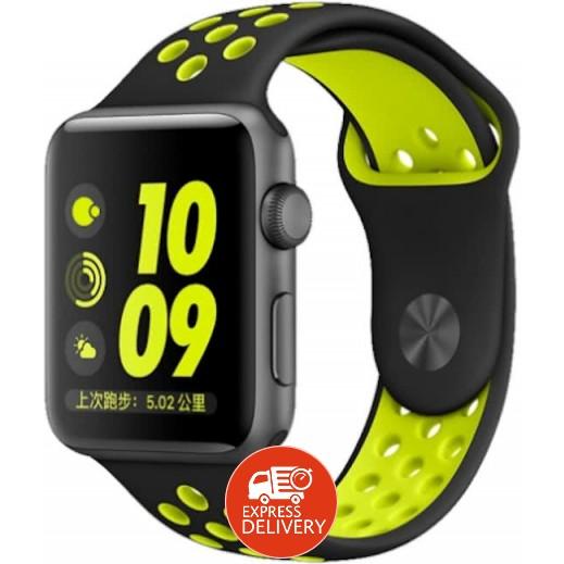 3c69ad763 Coteetci Sport Wrist Strap for Apple Watch 42 mm - Black & Yellow ...