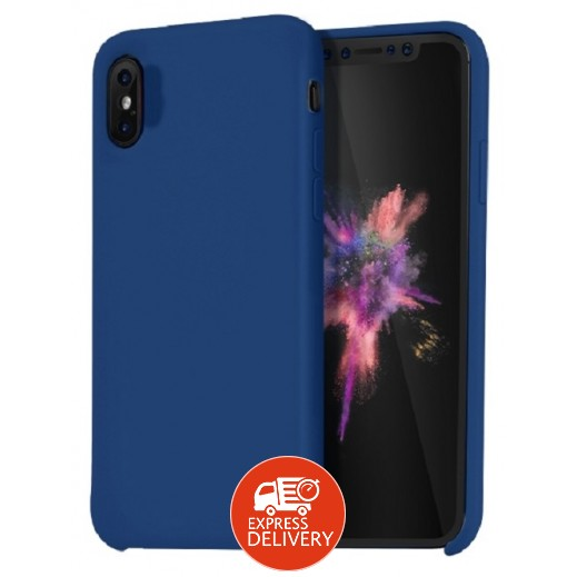 هوكو – غطاء حماية خلفي لهاتف ايفون XS / X – ازرق داكن