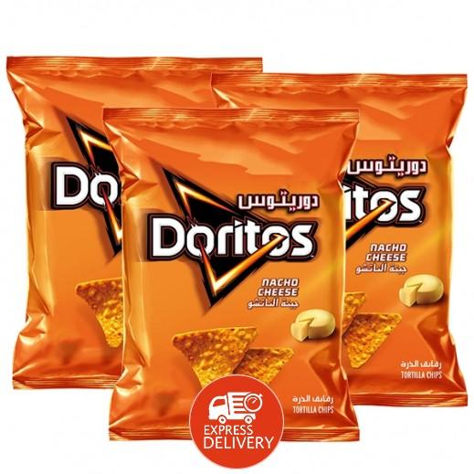 دوريتوس - رقائق الذرة بطعم الجبنة الناتشو 3 × 180 جم