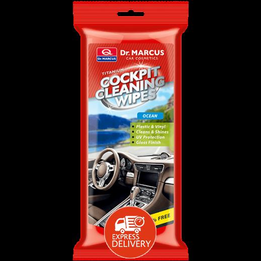 د. ماركوس – تيتانيوم مناديل تنظيف داخلية السيارة الامامية – المحيط