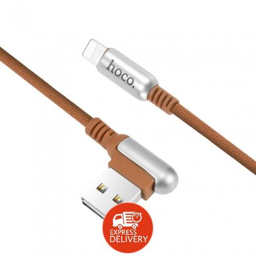 هوكو –كيبل lightning  لأجهزة أبل بطول 1.2 م – بني