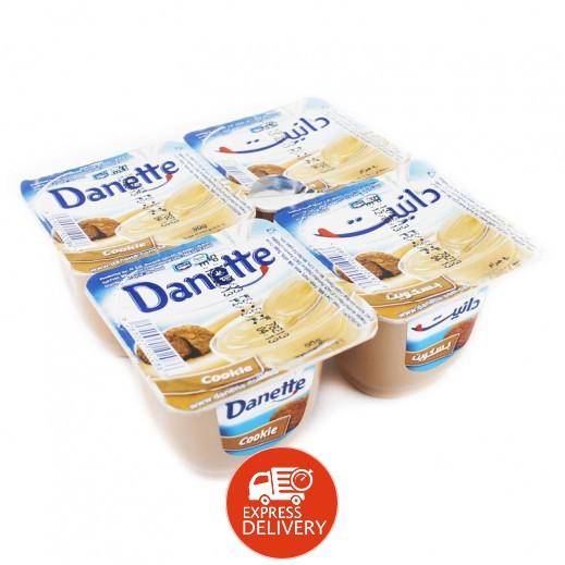 دانيت – حلوى بودنج بطعم الكوكيز 90 جم × 4 حبة