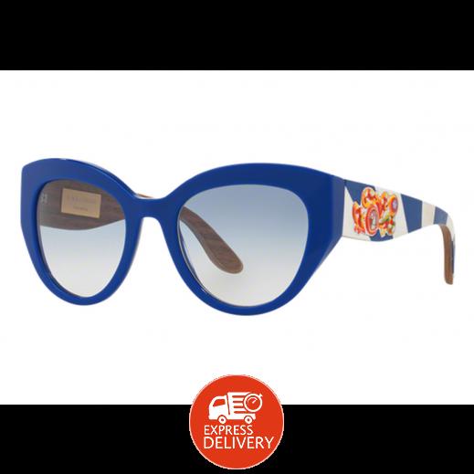 87ef4268e اشتري دولتشي آند جابانا – نظارة شمسية للسيدات أزرق 52 مم | توصيل ...