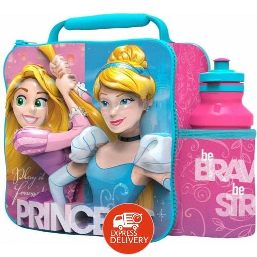 حقيبة طعام ثلاثية الأبعاد مع زجاجة للمياه 500 مل - تصميم الأميرة