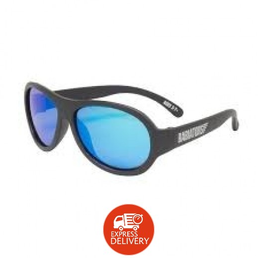 بيبيتورز – نظارات شمسية مستقطبة للأطفال - أسود (3 - 7) سنوات