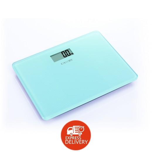 كامري - ميزان الحقائب الإلكتروني المتنقل بشاشة LCD - أزرق فاتح