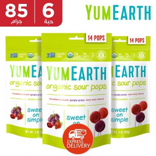 يامي إيرث – حلوى عضوية حامضية 6 × 85 جم