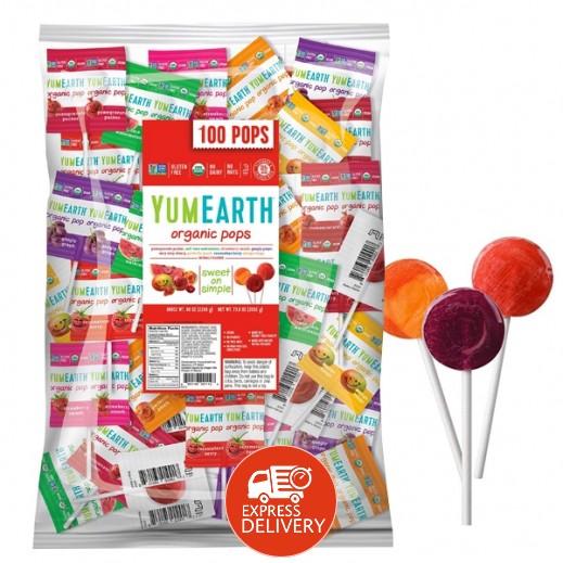 يامي إيرث – حلوى عضوية طبيعية بنكهة الفواكه 600 جم (100 حبة)