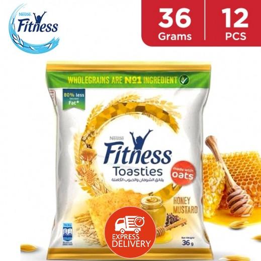 نستلة فتنيس - رقائق الشوفان والحبوب الكاملة بطعم العسل والمسطردة 12 × 36 جم