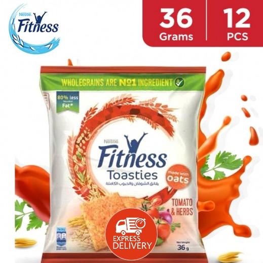 نستلة فتنيس - رقائق الشوفان والحبوب الكاملة بطعم الطماطم والأعشاب 12 × 36 جم