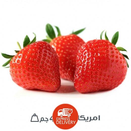 فراولة عضوية طازجة أمريكي (454 جم تقريبا)