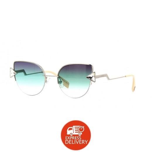 فيندي - نظارة شمسية للسيدات أخضر وأرجواني 52 مم