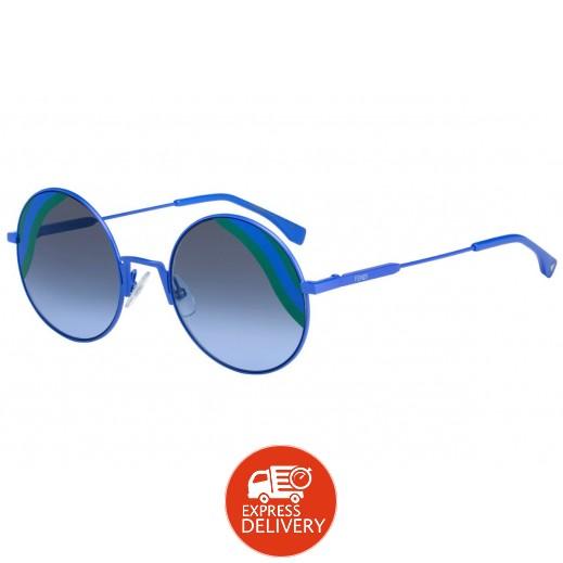 فيندي - نظارة شمسية للسيدات أزرق 53 مم