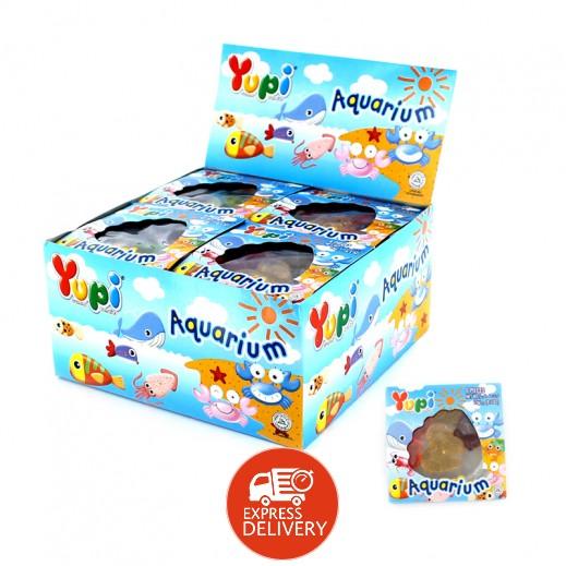 يوبي – حلوى جيلاتين بطعم الفواكة أكواريوم 15 جم ( 24 × 6 حبة )