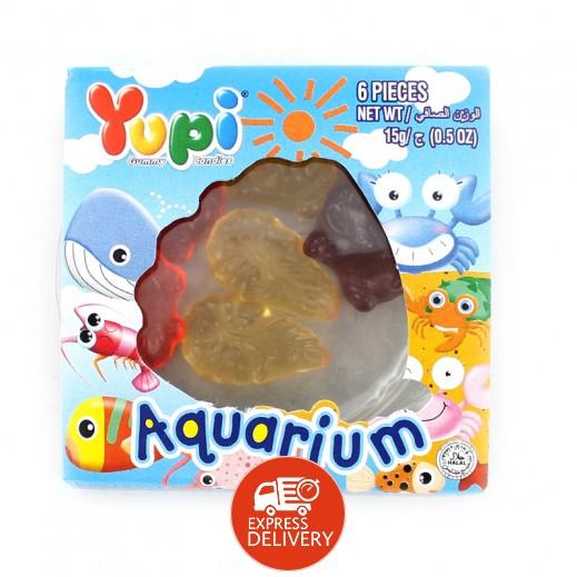 يوبي – حلوى جيلاتين بطعم الفواكة أكواريوم ( 6 حبة ) 15 جم