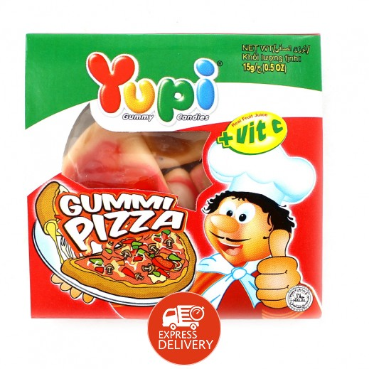 يوبي – حلوى جيلاتين بيتزا 15 جم ( 4 حبة )