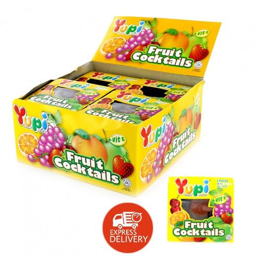 يوبي – حلوى جيلاتين بطعم الفواكة المشكلة 15 جم ( 24 × 6 حبة )