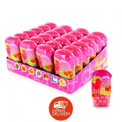 لوتي – علكة الفقاعات بطعم الفراولة 15 جم × 24 حبة