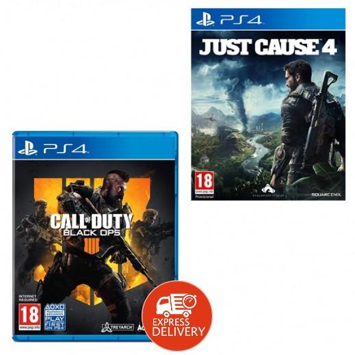 لعبة Call of Duty Black Ops 4 لبلاي ستيشن 4 – نظام PAL (عربي) + لعبة Just Cause 4 لجهاز بلاي ستيشن 4 – نظام PAL