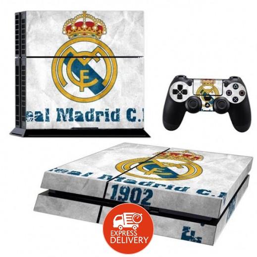 ملصق REAL MADRID لجهاز PS4  + عدد 2 ملصق ليدة التحكم M3