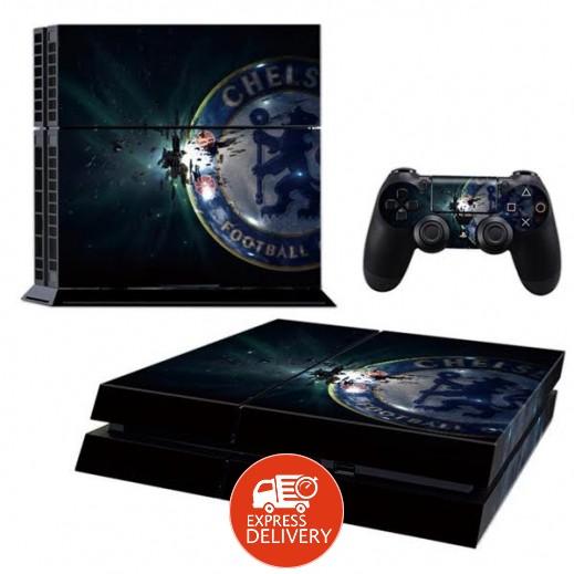 ستيكر CHELSEA لجهاز PS4  + عدد 2 ملصق ليدة التحكم M3