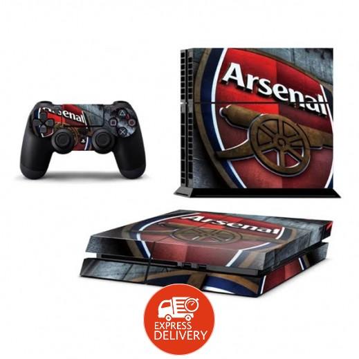 ستيكر ARSENAL لجهاز PS4  + عدد 2 ملصق ليدة التحكم M2