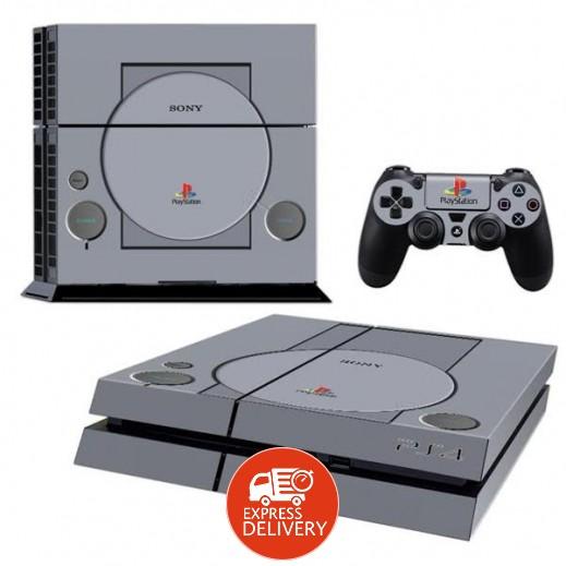 ستيكر PS1 CLASSIC لجهاز PS4  + عدد 2 ملصق ليدة التحكم M2