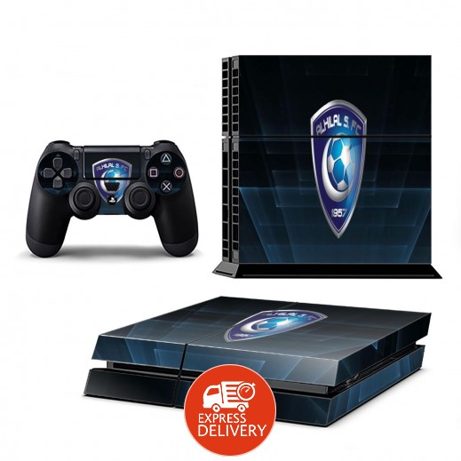 ستيكر HILAL لجهاز PS4  + عدد 2 ملصق ليدة التحكم M2
